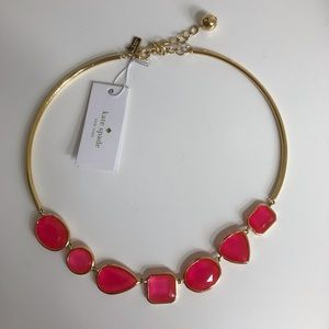 Kate Spade Coral Gold Vegas Jewels Necklace
